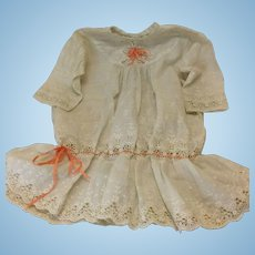 Antique Dropped Waist Dress for Larger Doll