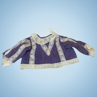 All Original Antique Silk Top For French Doll