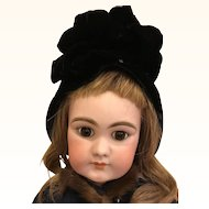 Antique Velvet hat for Doll