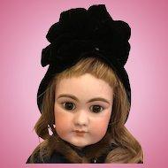 Antique Velvet hat for Doll