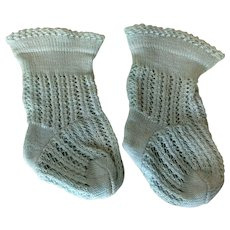 "Antique French Doll Socks 1 1/2"" Foot Jumeau Steiner"