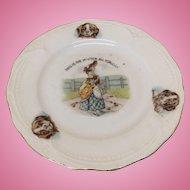 """Antique German Child's Plate """"House That Jack Built"""""""