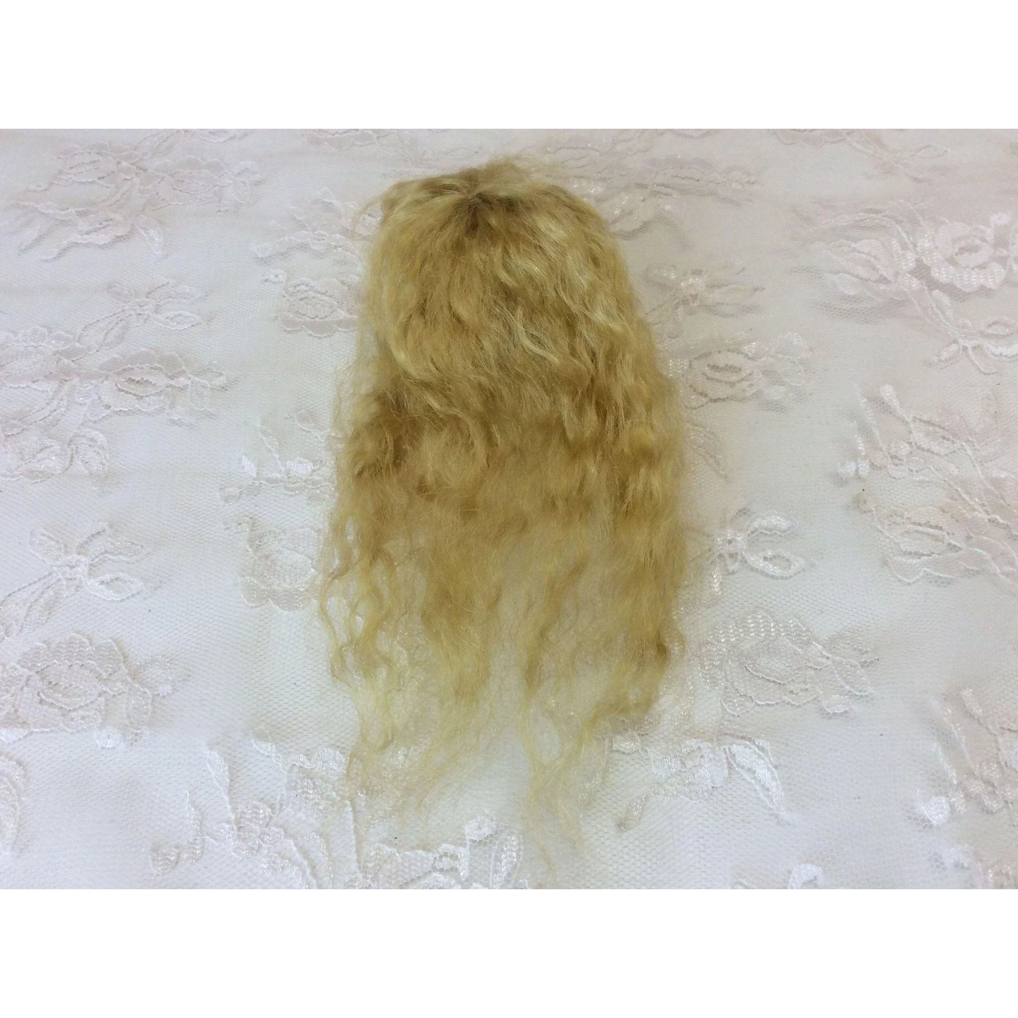 "3"" English Mohair Golden Blonde Doll Wig"