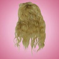 "Tiny 3 3/4"" Vintage Mohair Wig Golden Blonde"