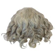 Antique Bangs Style Mohair Blonde Wig Sz 12 1/2""