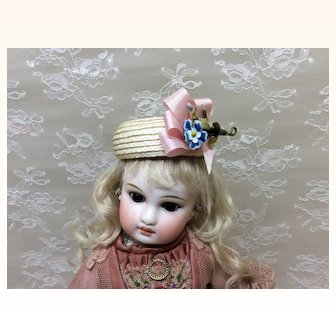 Vintage Hat for Small French or German Doll