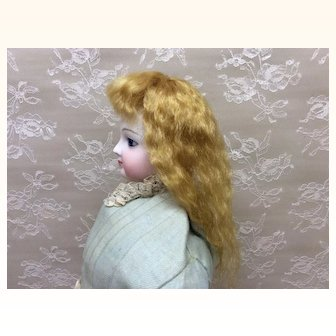 Golden blonde mohair wig for French Fashion