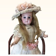Closed Mouth Depose Tete Jumeau Original Dress Hat Wig