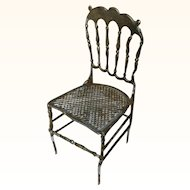 Exquisite Doll House Miniature Chair Soft Metal