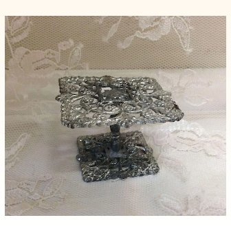 Small Antique Soft Metal Doll House Table