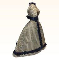 Antique original French Fashion Silk Ensemble
