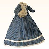 Original Antique French Silk Fashion Ensemble