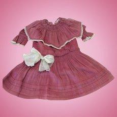 Original Antique Smocked Dropped Waist Dress
