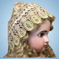 Lovely Crochet Bonnet for Med to Lg Doll