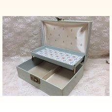 Aqua and Gold Presentation Box For Small Doll