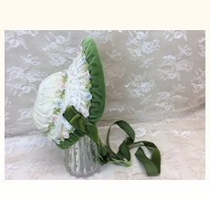 Seamstress Made Velvet Bonnet Cabinet Size Doll