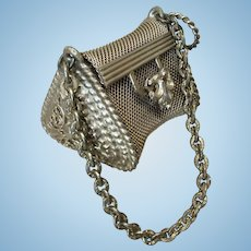 Fabulous Small Gold Mesh Purse for French Fashion Doll