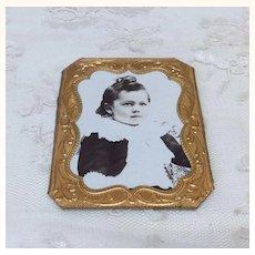 Wonderful Antique Victorian Boy Doll House Miniature in Frame