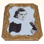 Wonderful Antique Victorian Boy Doll House Miniature in Frame