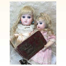 Wonderful Tiny 1880's Book For Doll Display