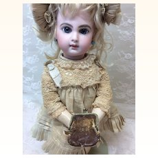 """Tiniest 1"""" Antique Leather Purse for Doll"""