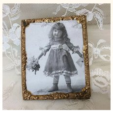 Miniature Picture Antique Frame for Doll House or Doll Display
