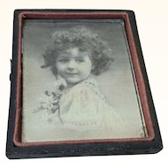 Victorian Girl in Antique Frame Doll House Or Display