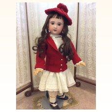 "Charming Bebe Jumeau SFBJ 29 1/2"" Antique Bisque Doll"