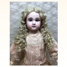 Blonde Mohair Curly Wig with Extensions Sz 14-15