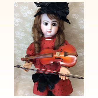 """Doll Size Violin 9"""" with Case & Bow"""