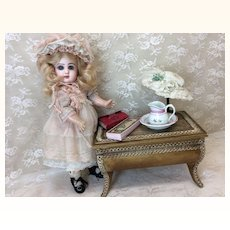 Small Wooden Table Or Trunk For Doll Display