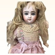 """Early Closed Mouth German Doll 15"""""""