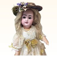 """Lovely 22"""" Close Mouth French Rabery &  Delphieu Bisque Doll"""