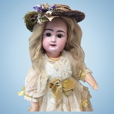 "Lovely 22"" Close Mouth French Rabery &  Delphieu Bisque Doll"