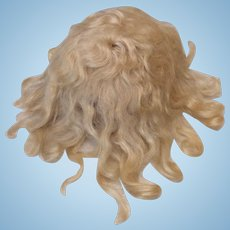 """12"""" Antique Pale Blonde Hand Tied Mohair Wig"""