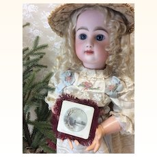 Miniature Antique Fringed Christmas Card For Doll