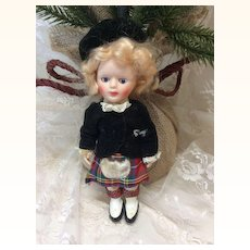 All Original Vintage Scottish Doll 6""