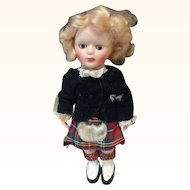 "All Original Vintage Scottish Doll 6"""