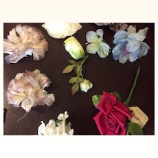 Lot of Vintage Millinery Flowers For Doll Hats or Dresses