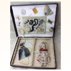 Antique French Mignonette in Trousseau Box