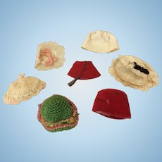 Vintage Hat Lot for Small Dolls