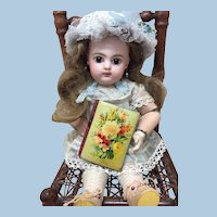Tiny Antique Handpainted Book For Doll Display