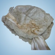 Antique Silk and Lace Bonnet