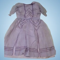 Antique Handsewn and Beaded Dress for French or German Doll