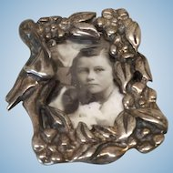 """Miniature Vintage 1"""" Silver Stork Pin For Doll"""