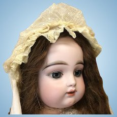 Antique Netting and Lace Bonnet for mid to larger Doll