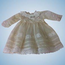 Antique Lace & Netting Bebe Dress Cabinet Sz Doll