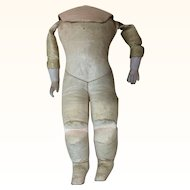 """9"""" Antique Kid Doll Body Bisque Arms"""