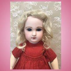"Pale Blonde Antique Mohair Wig 8 1/2-9"""