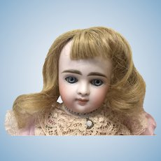 Antique Sz 6 Human Hair Golden Blonde Wig